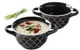 Gibson Crock-Pot Mathison 2-pc. Round Soup Bowl Set - Black