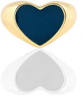 Kris Nations Enamel Heart Signet Ring