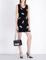 Moschino Capsule-print wool dress