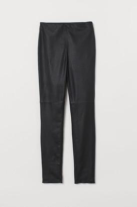 H&M Leather Leggings