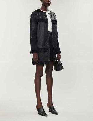 Pinko Mazinga leather fringe jacket