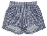 Andy & Evan Girl's & Little Girl's Gingham Ruffle Cotton Shorts