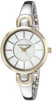 Anne Klein Women's AK/2125MPTT Two-Tone Bang Watch