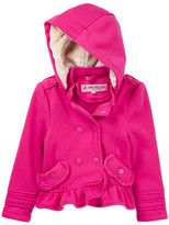 Urban Republic Faux Fur Lined Hooded Fleece Jacket (Toddler Girls & Little Girls)