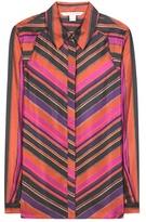 Diane von Furstenberg Chrissie Printed Silk Shirt