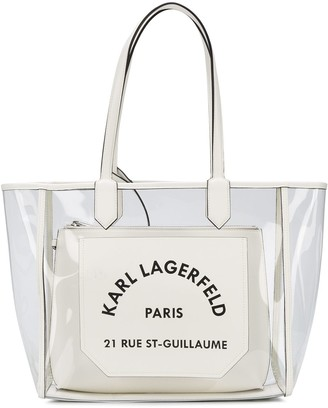 Karl Lagerfeld Paris K/Journey transparent tote