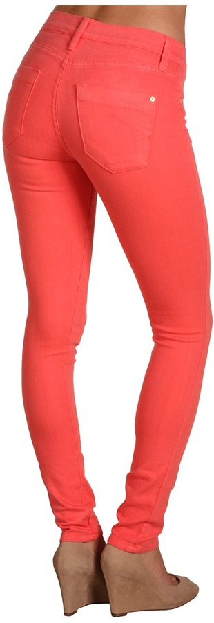 James Jeans Twiggy Faux Front Pocket Legging in Coral (Coral) - Apparel