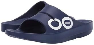 OOFOS OOahh Sport Sandal (Black/Black) Sandals