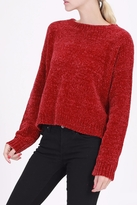 Double Zero Chenille Crop Sweater