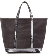 Vanessa Bruno Cabas Medium Embellished Suede Shopper