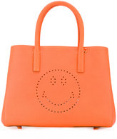 Anya Hindmarch small Featherweight Ebury Smiley tote - women - Leather - One Size