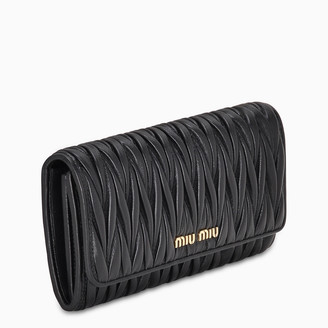 Miu Miu Black matellasse leather wallet