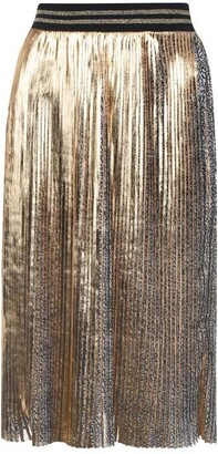 Biba Foil Pleated Skirt