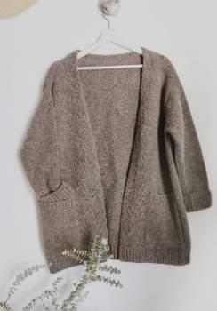 Näz Naz - One Size Light Brown Wool/Alpaca Cardigan - ONESIZE | polyester | light brown - Light brown