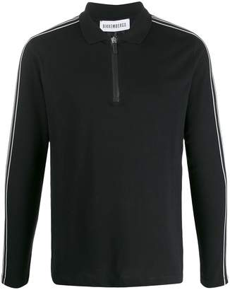 Bikkembergs side stripes polo shirt