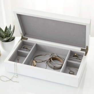 The White Company Lacquer Jewellery Box Lid, White, One Size
