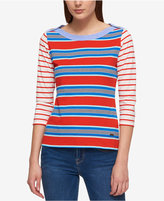 Tommy Hilfiger Cotton Striped Boat-Neck Top, Created for Macy's