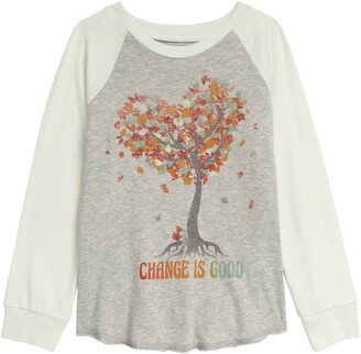 Peek Aren't You Curious Why Leaves Change Baseball Graphic Tee