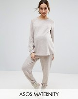 Asos LOUNGE Longline Sweat and Jogger Set