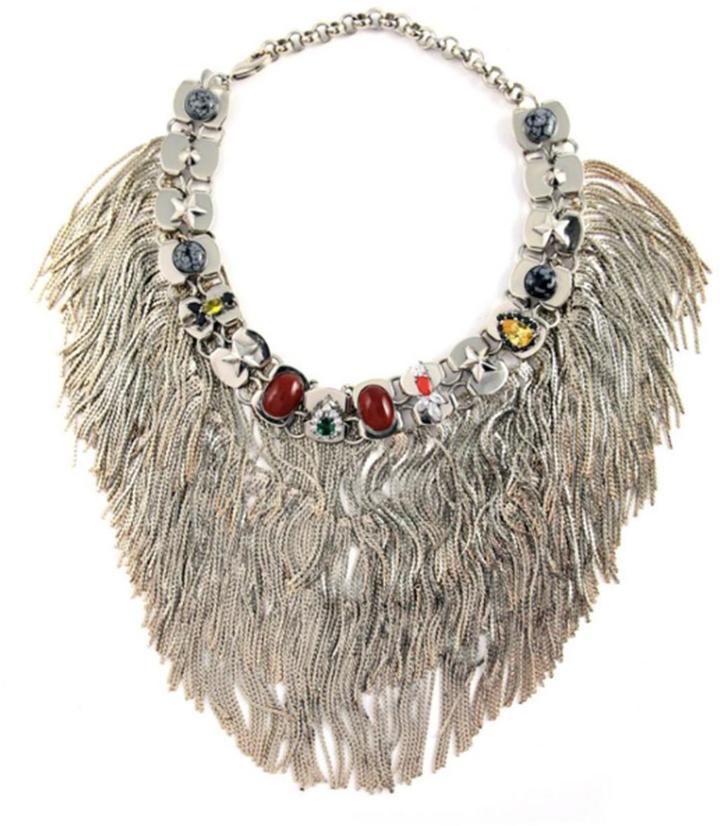 Iosselliani Anubis Fringe Necklace