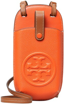 Tory Burch Perry Bombe Leather Phone Crossbody Bag