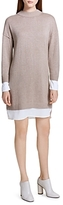 Calvin Klein Layered Look Sweater Dress