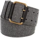 Saint Laurent Tweed Waist Belt