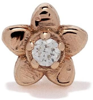 Kismet By Milka 14kt rose gold Daisy piercing diamond stud