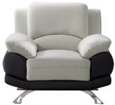 Hokku Designs Caelyn Armchair Upholstery: Gray/Black