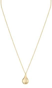 Argentovivo Polished Teardrop Pendant Necklace, 16