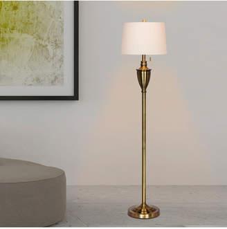 """Fangio Lighting 1589AB 61"""" Antique Classic Urn Floor Lamp"""