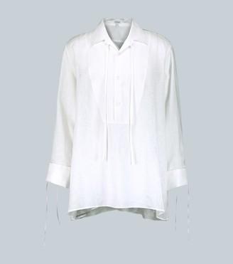 Loewe Loose-fit linen shirt with ties