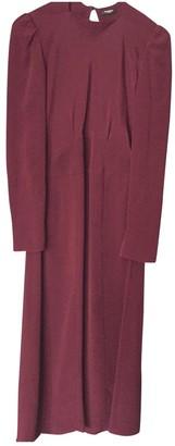 Vilshenko Burgundy Silk Dresses