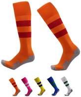 VWU Boys Girls Mens Womens Thick Knee High Soccer Socks Stripe Compression Socks Athletic Socks (M, )