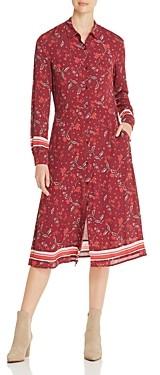 MKT Studio Rapio Cabernet Floral Print Shirt Dress