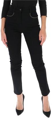 Fendi Contrast-Stitching Skinny Jeans