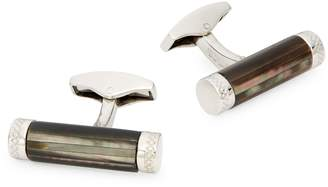 Tateossian Stainless Steel & Mother-Of-Pearl Cufflinks