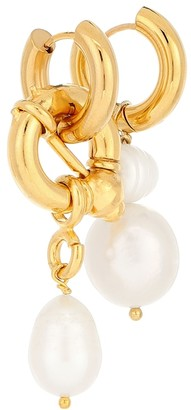 Timeless Pearly Mismatched gold-plated earrings