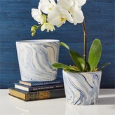 The Well Appointed House Set of 2 Blue Ceramic Tapered Containers/Vases