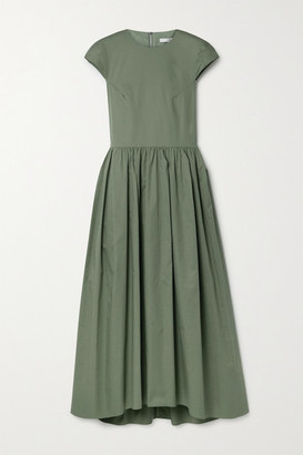 Tibi Organic Cotton-poplin Midi Dress