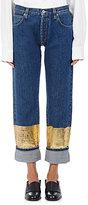 Loewe Women's Contrast-Hem Cuffed Jeans