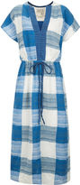 Ace&Jig Blue Cotton Plaid Drawstring Dress
