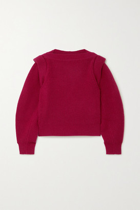 Isabel Marant Jody Ribbed Wool And Cashmere-blend Sweater - Red