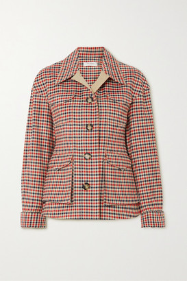 Wales Bonner Checked Wool And Cotton-blend Jacket - Red