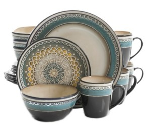 Gibson Amberdale 16-piece Dinnerware Set Teal, Service for 4