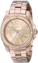 Tommy Hilfiger Women's 1781141 Sport Rose Gold Plated Stainless Steel Bracelet Watch