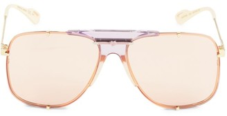 Gucci 63MM Aviator Sunglasses