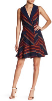 Adelyn Rae Jacquard Tuxedo Dress