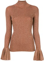 Carven flared cuff knitted top