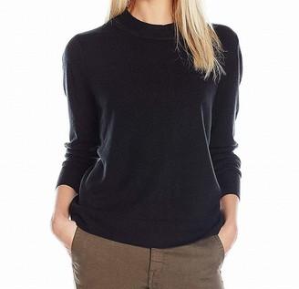 Sag Harbor Women's Long Sleeve Zip Back Mock Neck